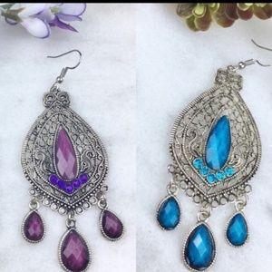 Jewelry - Boho Crystal Chandelier Earrings, Boutique Item